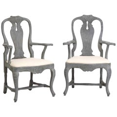 18th Century Pair of Swedish Rococo Armchairs