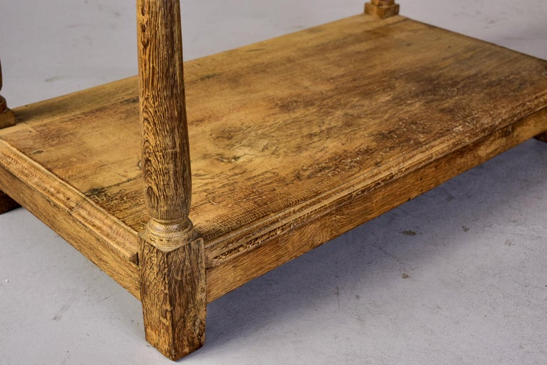 18th Century Pale Oak English Chest of Drawers on Stand For Sale 8