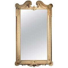 18. Jahrhundert, Palladianischer Spiegel Erhaltenes Originales Gemaltes Finish