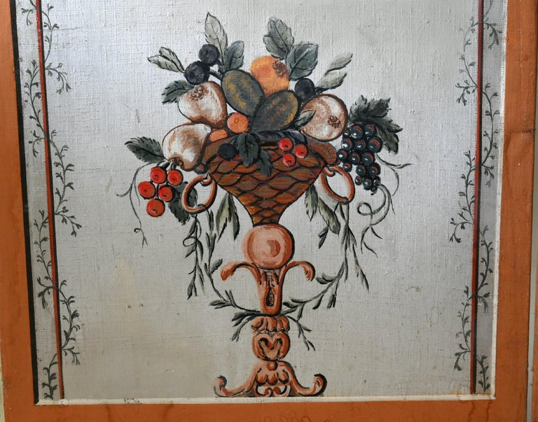 18th Century Paravent Screen France 1770 Original Painting For Sale 4