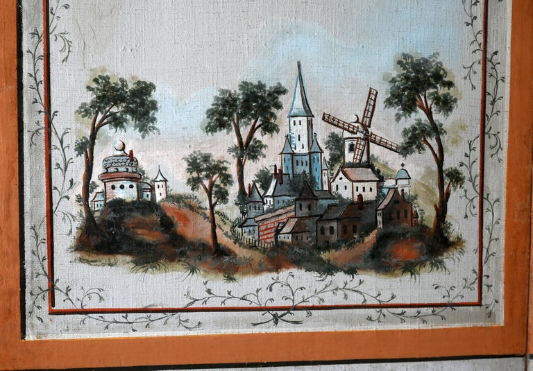 18th Century Paravent Screen France 1770 Original Painting In Good Condition For Sale In Epfach, DE