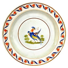 18th Century Pearlware Peafowl Large Plate