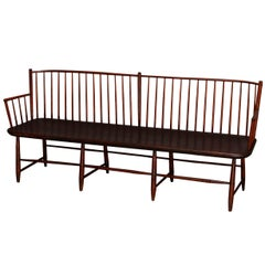 18th Century Period Americana Mixed Wood Windsor Bench