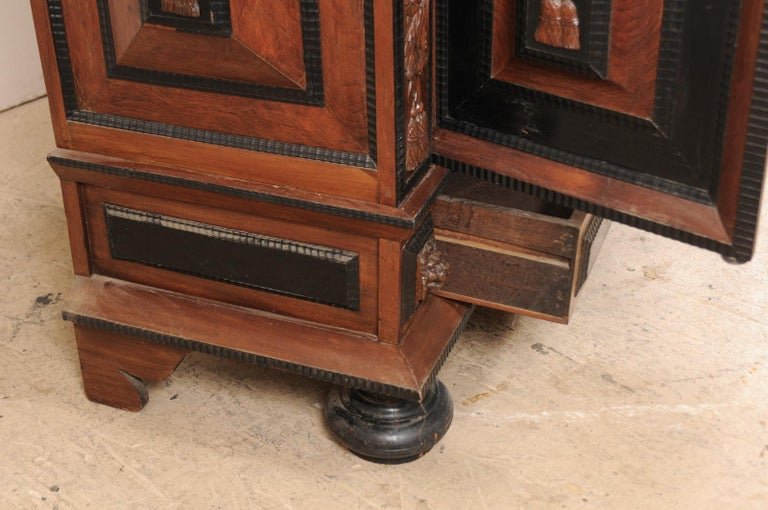 18th Century Period Baroque Kas Wardrobe Cabinet with Rich Carved Wood Details For Sale 2