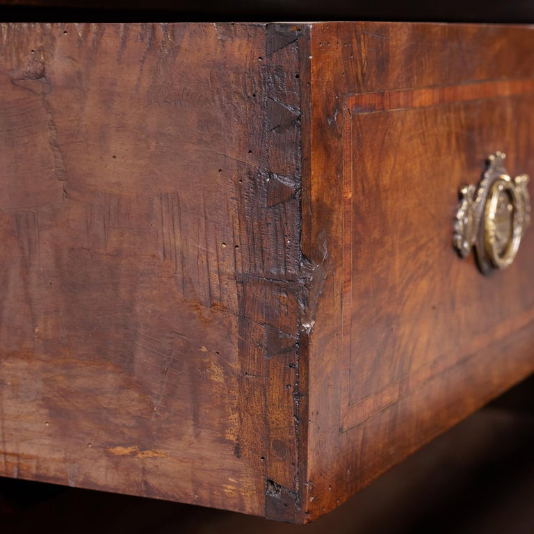 18th Century Period Louis XVI Walnut and Parquetry Commode For Sale 5