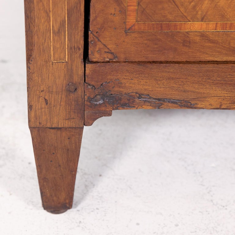18th Century Period Louis XVI Walnut and Parquetry Commode For Sale 6
