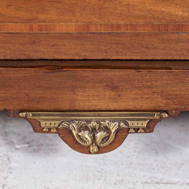 18th Century Period Louis XVI Walnut and Parquetry Commode For Sale 7