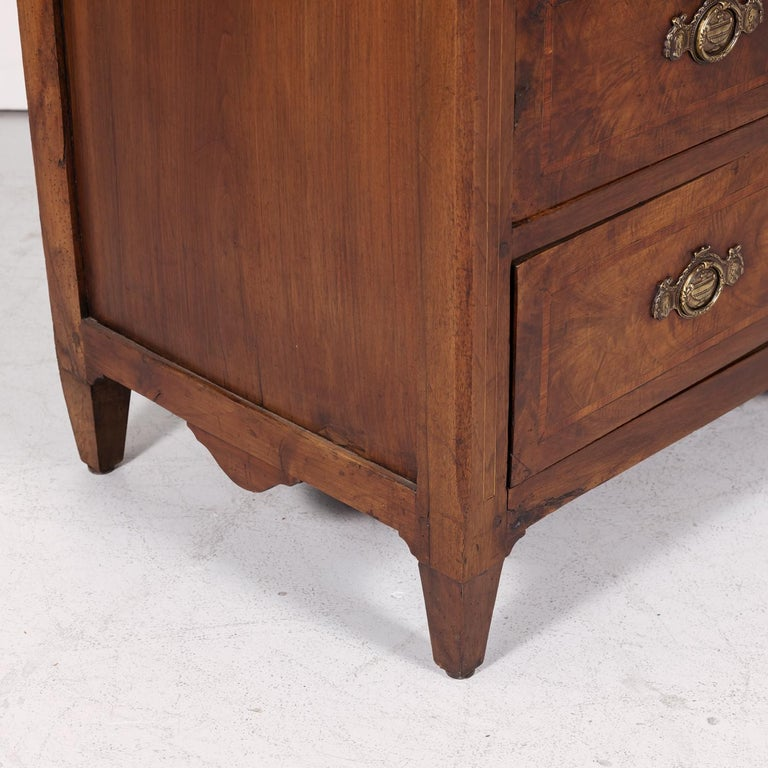 18th Century Period Louis XVI Walnut and Parquetry Commode For Sale 8