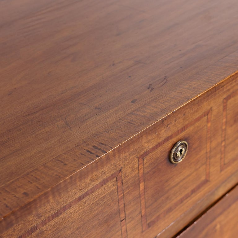 18th Century Period Louis XVI Walnut and Parquetry Commode For Sale 2