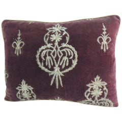 18th Century Persian Metallic Threads Embroidered Decorative Pillow