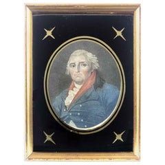 18th Century Philip James Loutherbourg Portrait English Miniature Paper Etching