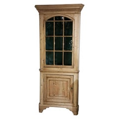 18th Century Pine Corner Cupboard