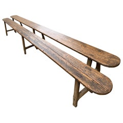 18th Century Pine Long Benches