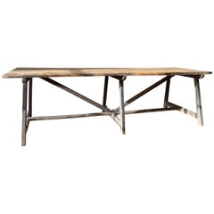 18th Century Pine Trestle Refectory Table