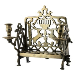 18th Century Polish Brass Hanukkah Lamp Menorah