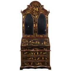18th Century Polychrome Lacquered Wood Venice Bureau Cabinet