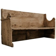 18th Century Poplarwood Spanish Bench