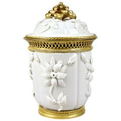 18th Century Porcelain Jar with Lid by Saint Cloud, France, circa 1730