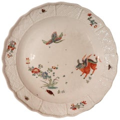 18th Century Porcelain Plate Signed Meissen with Kakiemon Decoration, 1740s