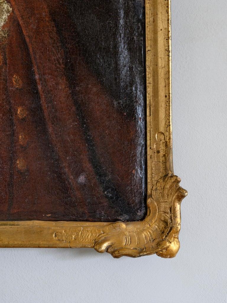 Swedish 18th Century Portrait For Sale