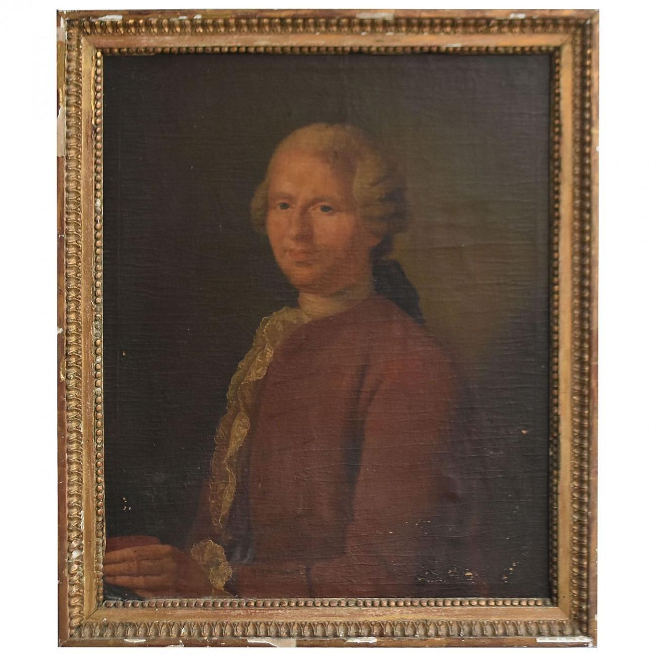18th Century Portrait of a Gentleman Oil on Canvas