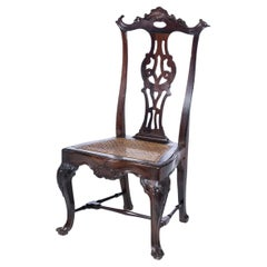 18th Century Portuguese Chair in Kingwood with Carvings