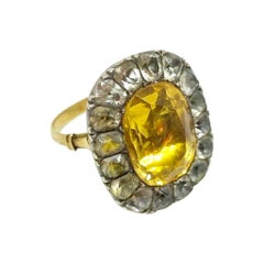 18th Century Portuguese Citrine Ring