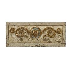 18th Century Portuguese White and Gold Architectural/Headboard Piece