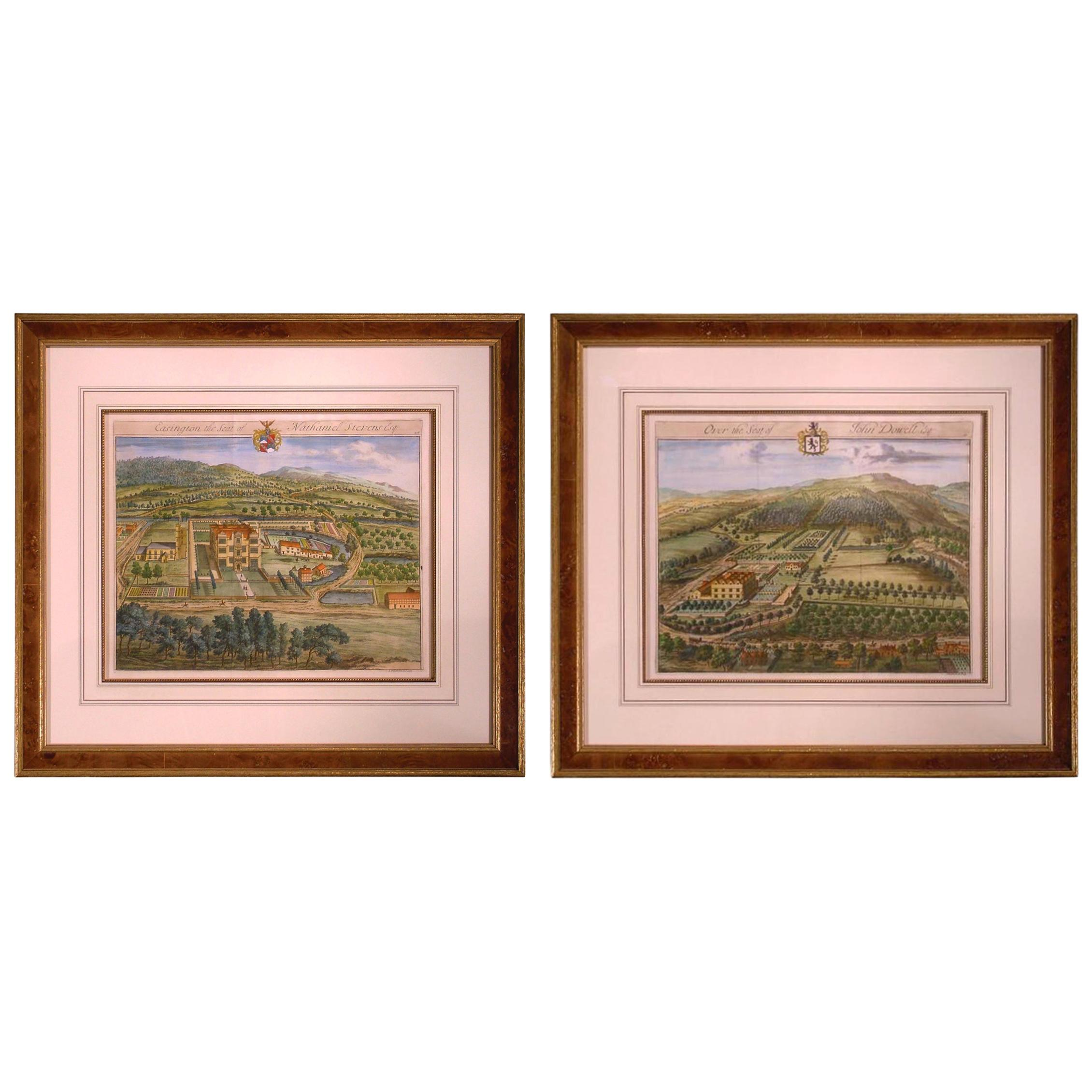 18th Century Prints of Country Seats by Johannes Kip