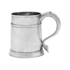 18th Century Queen Anne Period Antique Britannia Standard Silver Mug from 1705