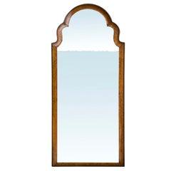 18th Century Queen Anne Walnut Etched Mirror