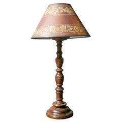18th Century Repurposed French Provincial Candlestick Table Lamp
