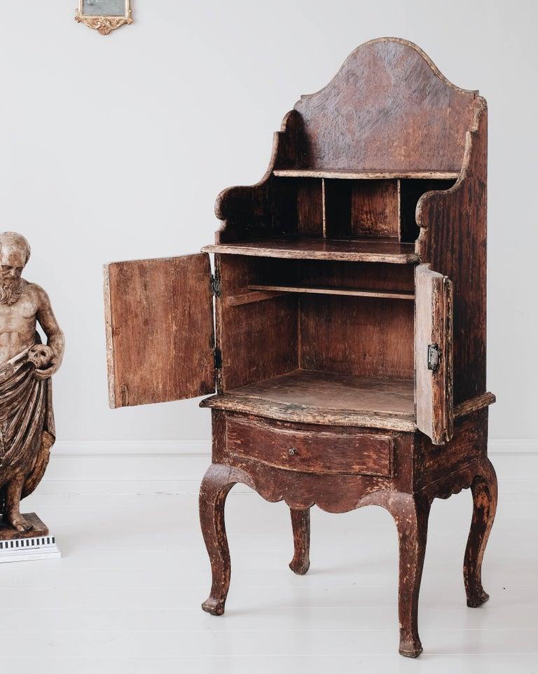 Swedish 18th Century Rococo Cabinet For Sale