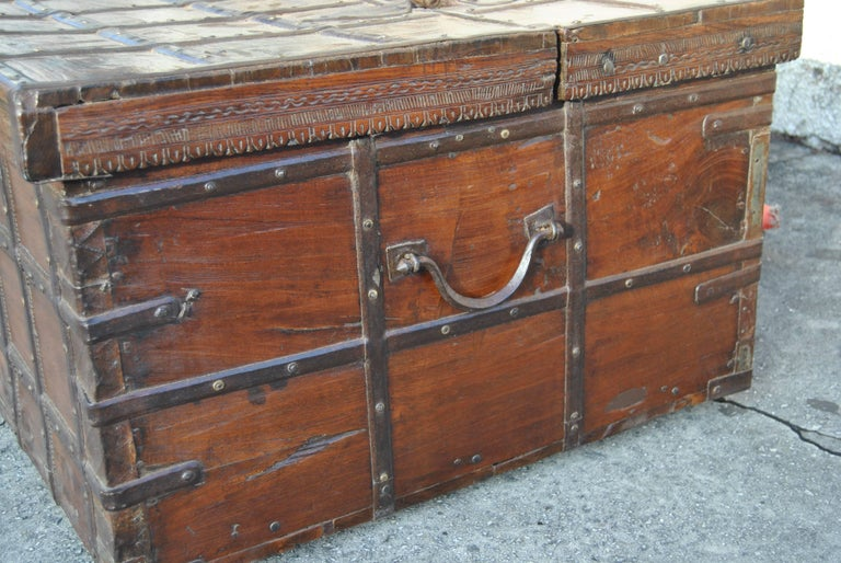 Indian 18th Century Rosewood Blanket Chest from India For Sale