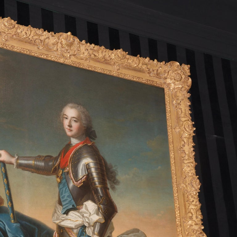 18th Century Royal Portrait by Nattier Workshop For Sale 4