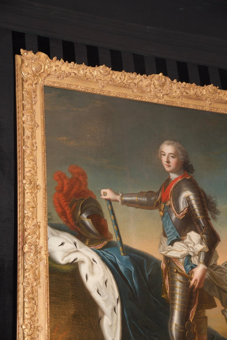 18th Century Royal Portrait by Nattier Workshop For Sale 5