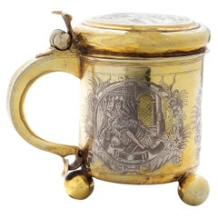 18th Century Russian Exceptional Silver-Gilt Tankard, Moscow, c.1745