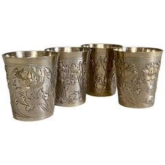 18th Century Russian Silver Beakers