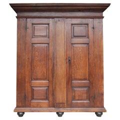18th Century Rustic Belgian Oak Cabinet or Cupboard