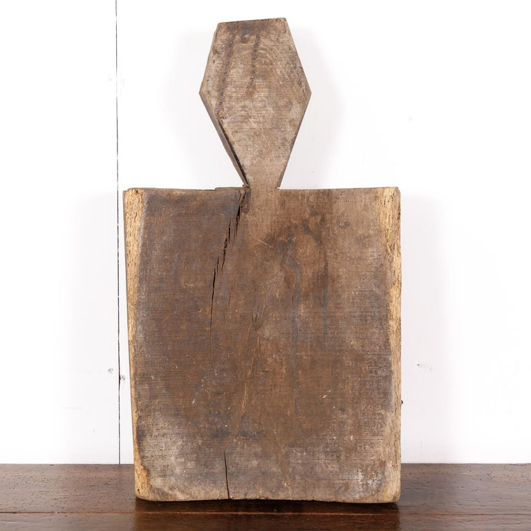 Late 18th Century 18th Century Rustic Country French Cutting Board or Chopping Block with Well For Sale