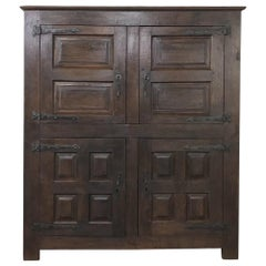 18th Century Rustic Dutch Armoire, Cabinet