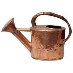 18th Century Rustic French Hand Hammered Copper Garden Watering Can