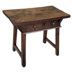 18th Century Rustic Spanish End Table