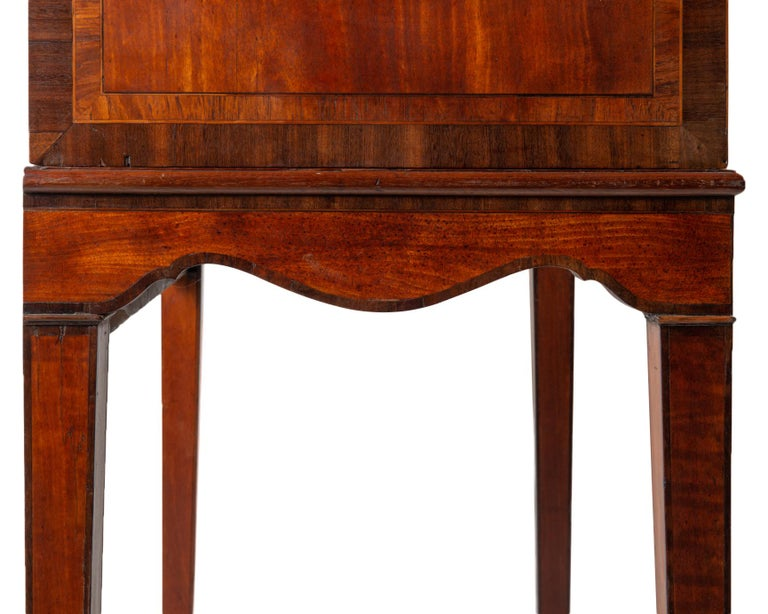 18th Century Satinwood Cabinet on Stand with Kangxi Period Panels For Sale 10