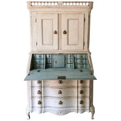 18th Century Scandinavian Baroque Period Secretaire