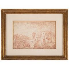 18th Century Scandinavian Landscape Drawing