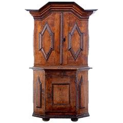 18th Century Scandinavian Pine Baroque Cupboard