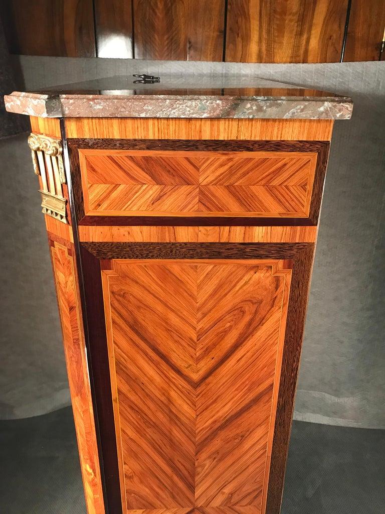 Mahogany 18th Century Fall top Desk (Secretaire a Abattant) Paris 1780, with Signature For Sale