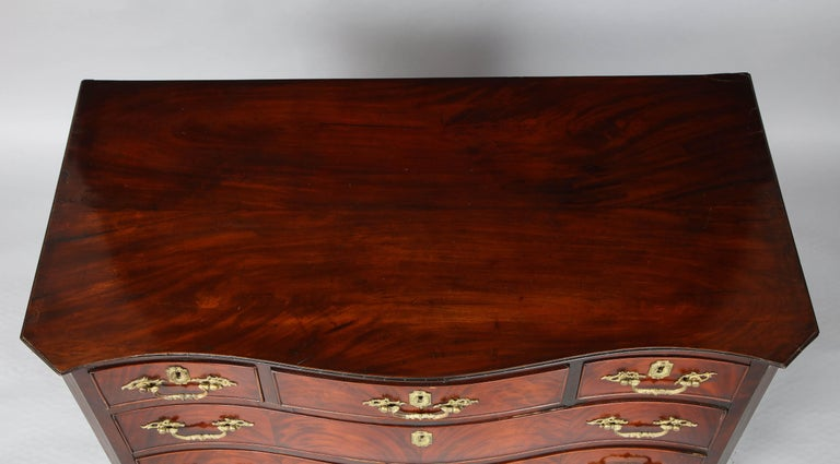English 18th Century Serpentine Chest For Sale