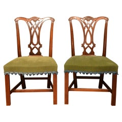 18th Century Set of 10 Mahogany Chippendale Dining Chairs